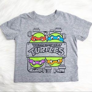 Nickelodeon Ninja Turtles Grey Crewneck T Shirt